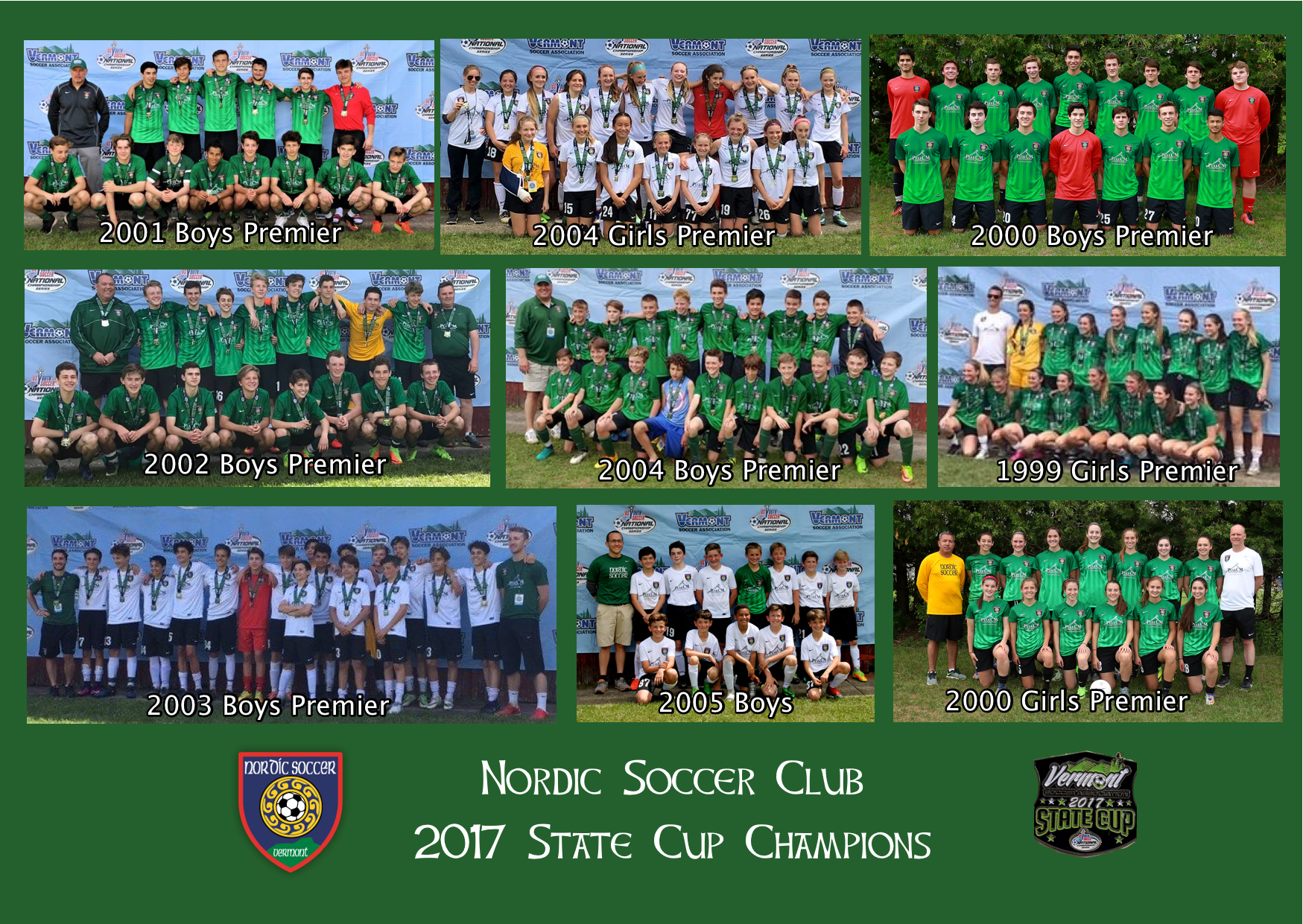2017 Vermont State Cup Champions!